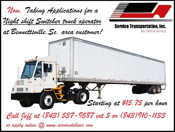 Switcher Truck Operator Needed