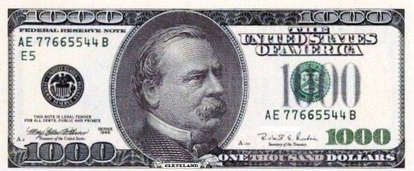 ZERO = $1000? TELL ME MORE!